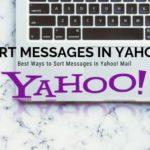 Sort Messages in Yahoo!