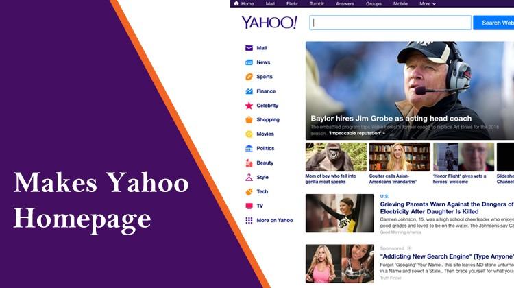 make yahoo homepage