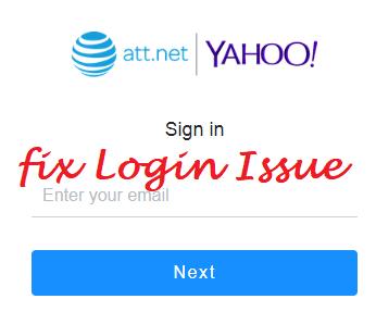 att.net/yahoo login issue fixed