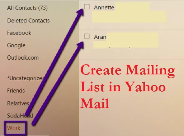 mailing list in yahoo