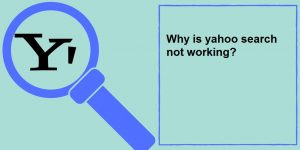 yahoo search not working