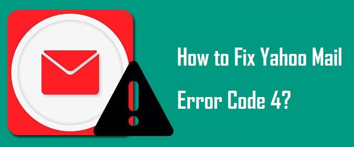 yahoo mail error code 4