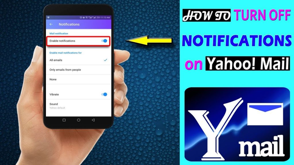 yahoo mail app notification not working